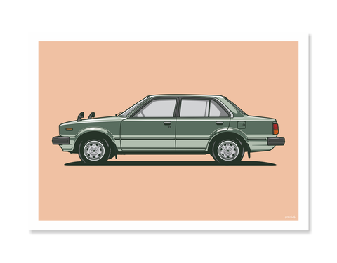 Honda Accord Print by Glenn Smith / A3