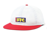Butter Goods x FTC Flag 6 Panel Hat / Off White / Red