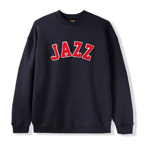 Butter Goods Jazz Applique Crewneck Sweater / Navy