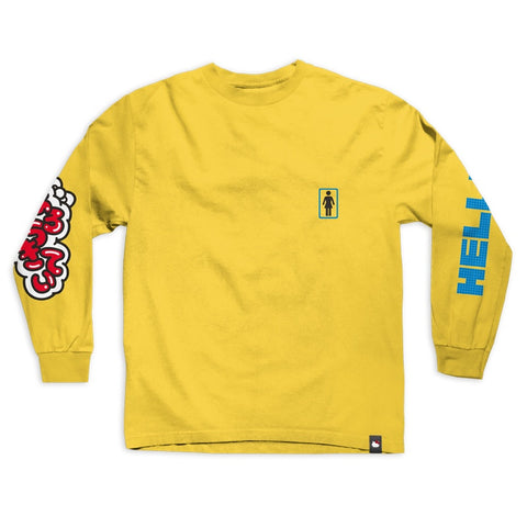 Girl x Hello Kitty Long Sleeve Tee / Yellow