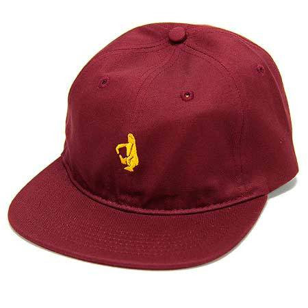 Krooked Shmolo 6 Panel Hat - Maroon