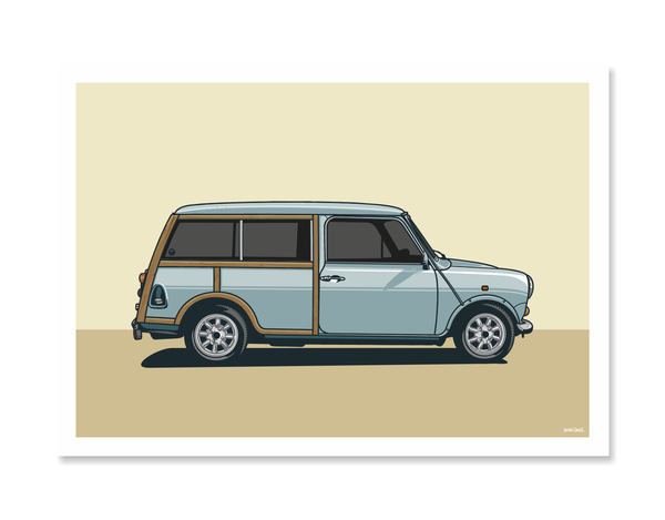 Panel Van Mini Print by Glenn Smith / A3