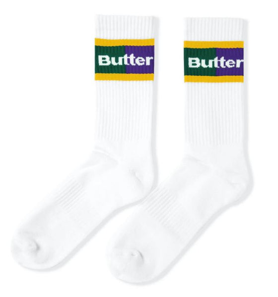 Butter Goods 93 Socks - White / Purple / Green