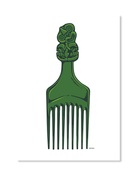 Tiki Comb Print by Glenn Smith / A3