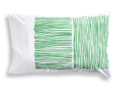 Green Lines Pillowcase