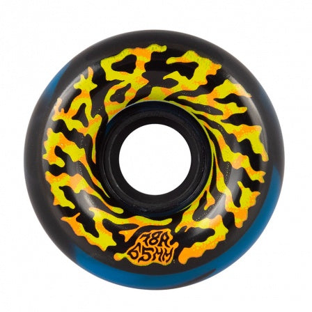 Santa Cruz Slime Balls Swirly Black Blue 78a  Wheels 65mm
