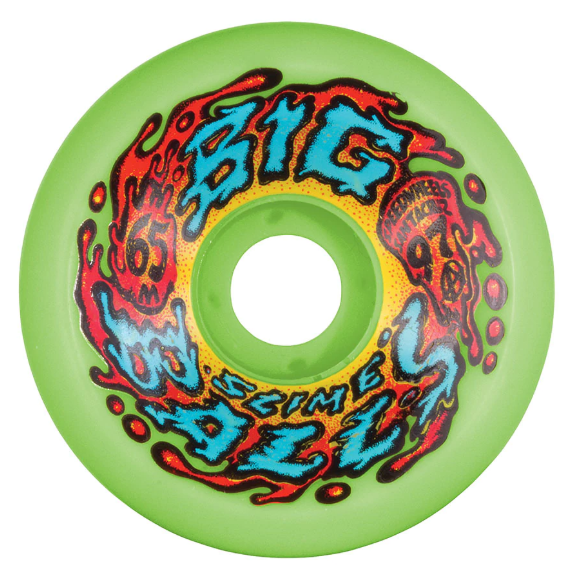 Slime Ball Big Balls Neon Green Wheels 65mm
