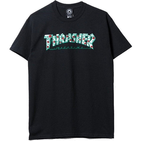 Thrasher Roses Tee / Black