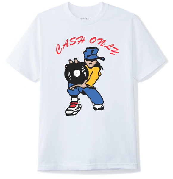 Cash Only DJ Tee / White