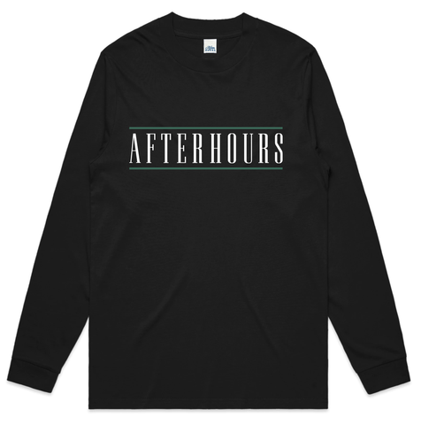 AfterHours Bar Long sleeve Tee / Black