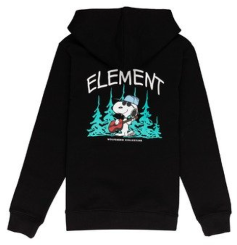 Element x Peanuts Good Time Youth Hoodie / Black