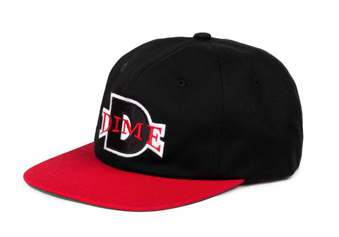 Dime Ball Hat / Black / Red