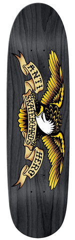 Anti Hero Eagle Over Spray Black Widow Shaped Deck 8.5""