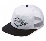 Thrasher Diamond Emblem Trucker Hat / White
