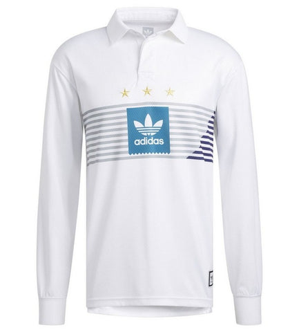 Adidas Elevated Long Sleeve Rugby / White / Grey / Teal / Purple