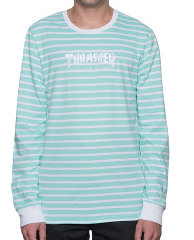 Huf x Thrasher Stripe Crew - Mint