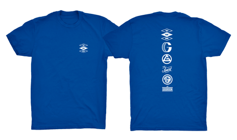 TGR Icons Tee / Royal Blue / White