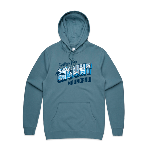 Define Art Greetings Hoodie / Slate Blue