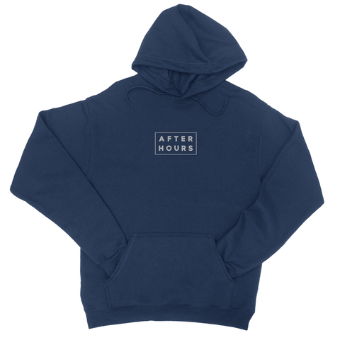 AfterHours Profile Embroidered Hoodie / Navy