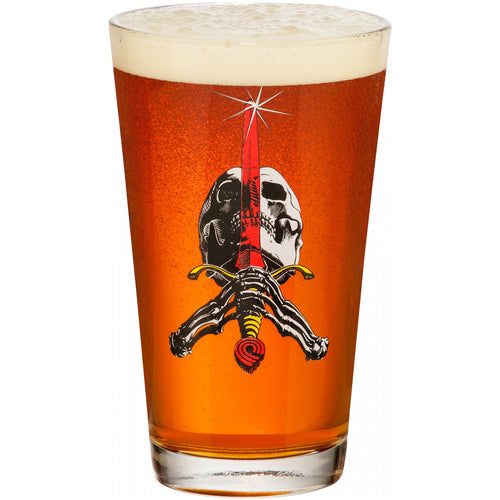 Powell Peralta Skull & Sword Pint Glass (Single)