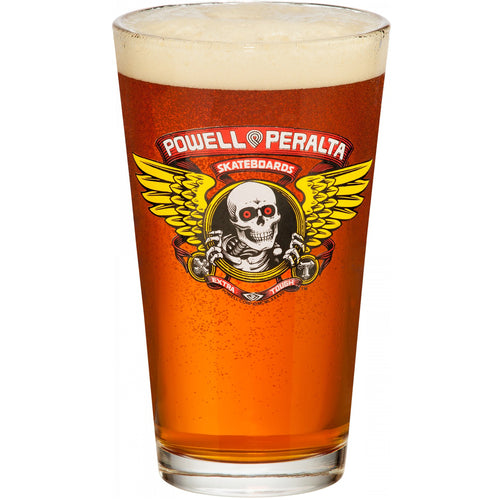 Powell Peralta Winged Ripper Pint Glass (Single)