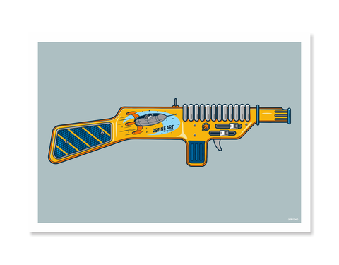 Ray Guns 2 Art Print by Glenn Smith