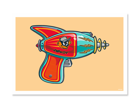 Ray Guns 3 Art Print by Glenn Smith