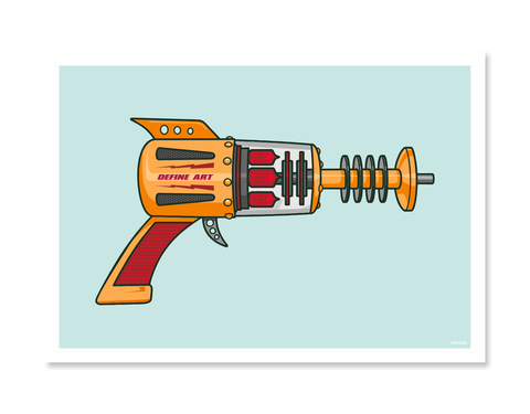 Ray Guns 4 Art Print by Glenn Smith