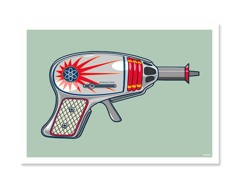 Ray Guns 5 Art Print by Glenn Smith