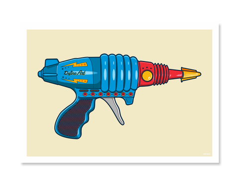 Ray Guns 6 Art Print by Glenn Smith