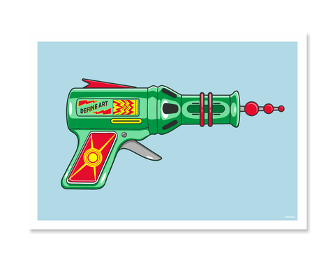 Ray Guns 8 Art Print by Glenn Smith