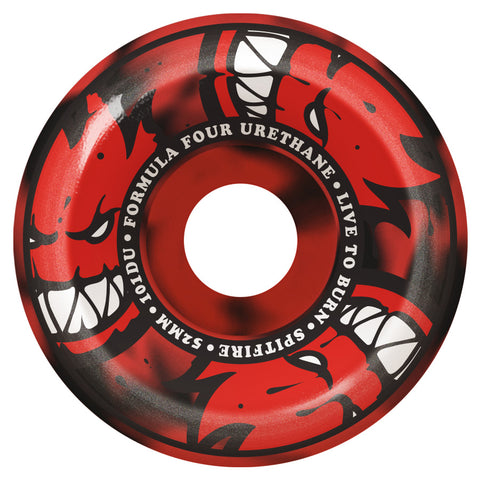 Spitfire F4 101 Duro Afterburner 52mm / Red Black Swirl