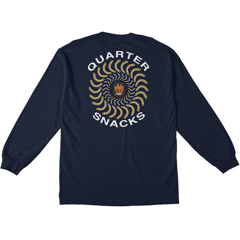 Spitfire x Quarter Snacks Classic Long sleeve Tee / Navy