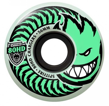 Spitfire Charger 80HD Glow in the Dark Wheels 56mm