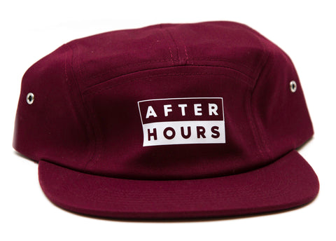 AfterHours 50/50 5 Panel Hat / Burgundy