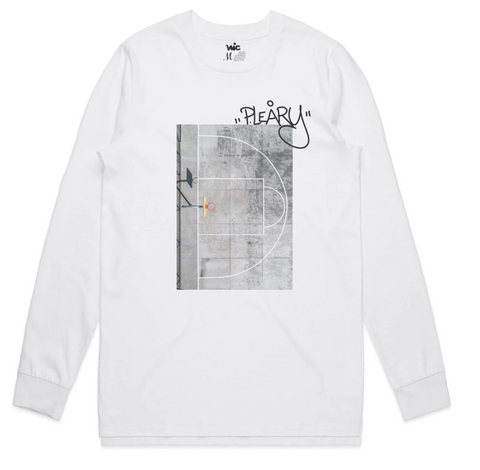Vic x Petra Leary Grey Scale  L/S Tee / White