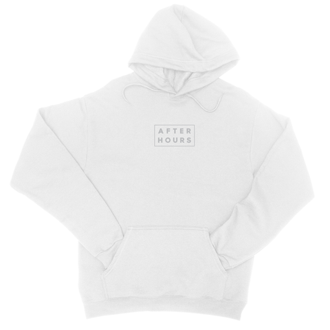 AfterHours Profile Embroidered Hoodie / White
