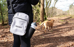 Grey dog walking bag
