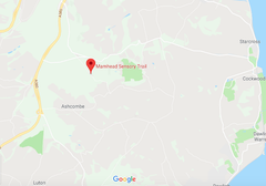 Google map of Mamhead view point and sensory trail