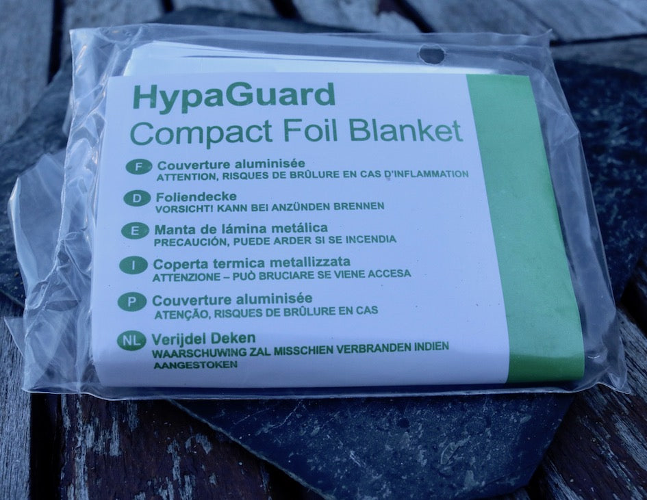 Foil hypothermia blanket refill dog first aid