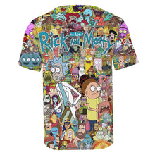 Charger l'image dans la galerie, T-shirt 3D Art of Rick Morty personnages série