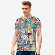 Charger l'image dans la galerie, T-shirt mannequin 3D Art of Rick Morty personnages série