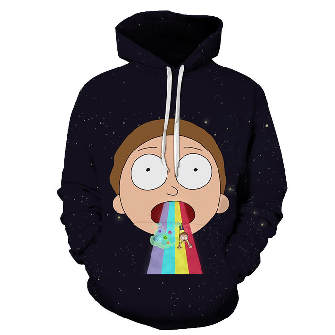 Sweat Morty vomi arc-en-ciel (Rick et Morty)