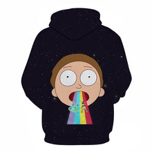 Charger l'image dans la galerie, Sweat Morty vomi arc-en-ciel dos (Rick et Morty)