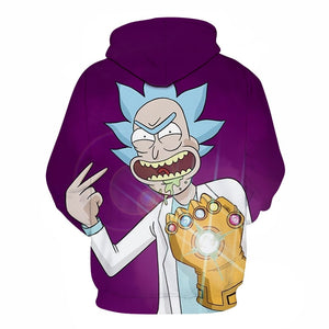 Sweat Rick gant de l'infini dos (Rick et Morty)