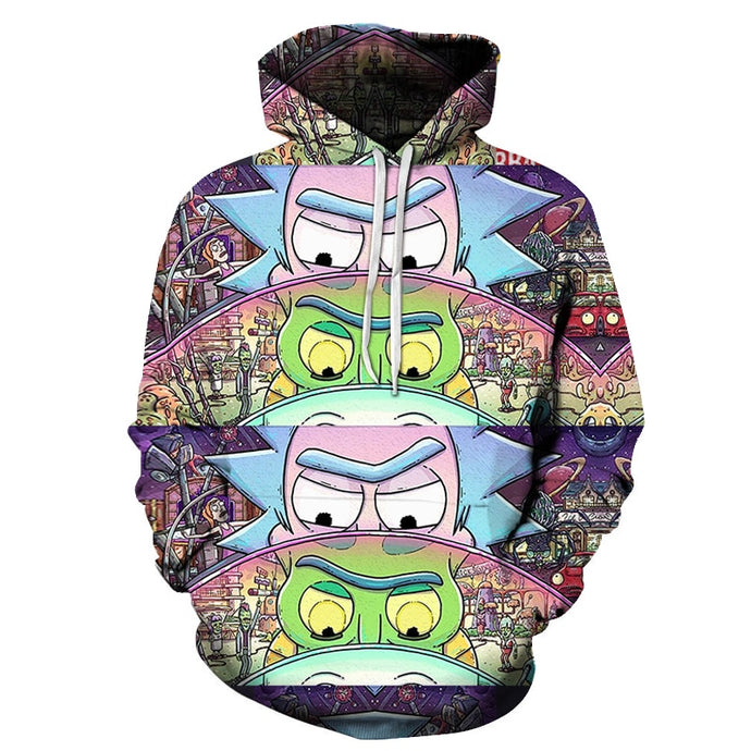 Sweat Rick mini univers batterie (Rick et Morty)