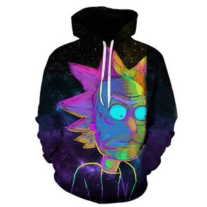 Sweat Rick couleurs phosphorescentes (Rick et Morty)