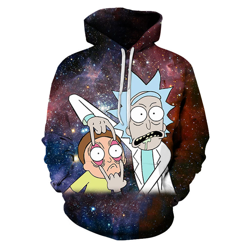Sweat Rick et Morty fond galaxie