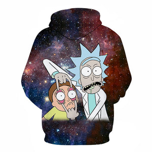 Sweat Rick et Morty fond galaxie dos