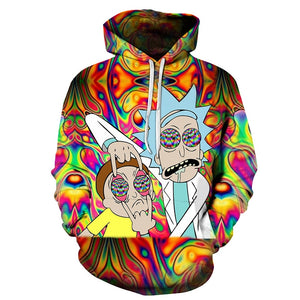 Sweat coloré Rick et Morty drogués